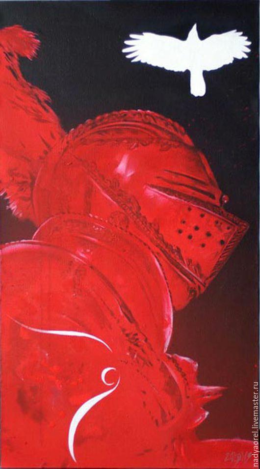 """Фэнтези ручной работы. Ярмарка Мастеров - ручная работа. Купить из серии работ """"Рыцари"""". Handmade. Чёрно-белый, черный цвет"""