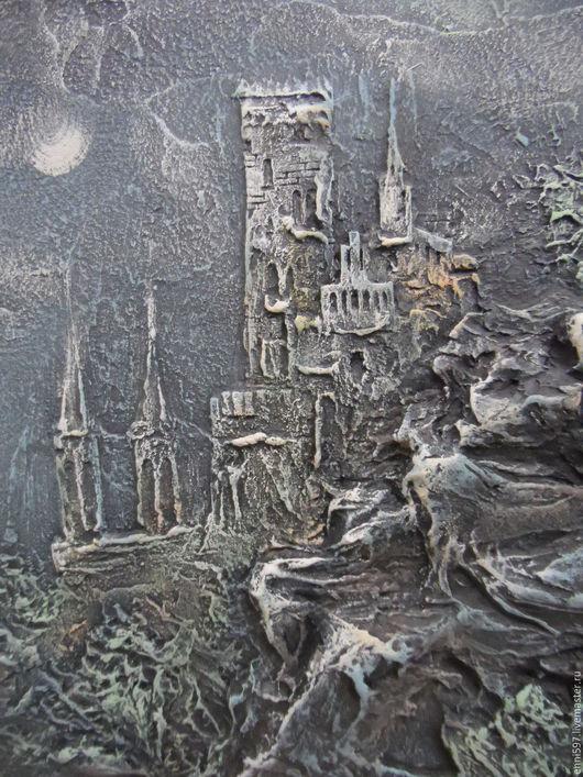Пейзаж ручной работы. Ярмарка Мастеров - ручная работа. Купить декоративное панно. Handmade. Комбинированный, декоративное панно, Декоративная штукатурка