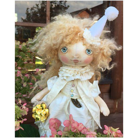 Куклы тыквоголовки ручной работы. Ярмарка Мастеров - ручная работа. Купить Пьеретта. Handmade. Кукла ручной работы, кукла тыквоголовка