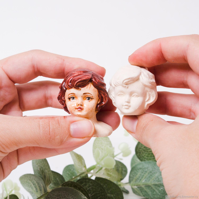 Куклы и игрушки ручной работы. Ярмарка Мастеров - ручная работа. Купить Кукольная голова для ватной игрушки #1. Handmade. Рождество