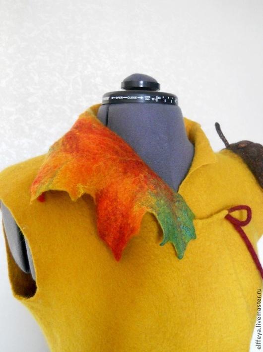 """Жилеты ручной работы. Ярмарка Мастеров - ручная работа. Купить Жилет """"Дань осени!.."""")). Handmade. Оранжевый, яркая осень"""