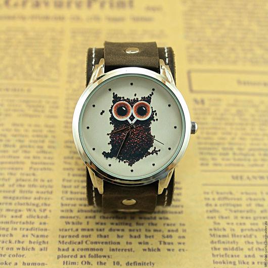 """Часы ручной работы. Ярмарка Мастеров - ручная работа. Купить Часы наручные """"Кофейная Сова"""". Handmade. Часы, стильный аксессуар"""