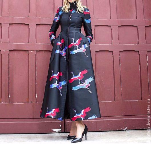 Верхняя одежда ручной работы. Ярмарка Мастеров - ручная работа. Купить Пальто. Handmade. Комбинированный, пальто, пальто демисезонное