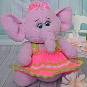 Куклы и игрушки ручной работы. Ярмарка Мастеров - ручная работа Игрушка вязаная слоник Соня. Handmade.