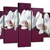 Картины и панно handmade. Livemaster - original item White Orchid on the purple background. Handmade.