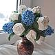 Свадебные цветы ручной работы. Букет невесты из гиацинтов. Ирина Раншакова (ranshakova). Ярмарка Мастеров. Букет в подарок, гиацинты