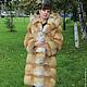 Верхняя одежда ручной работы. Ярмарка Мастеров - ручная работа. Купить Шуба с капюшоном из лисы. Handmade. Рыжий, шуба из лисы