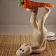 Игрушки животные, ручной работы. Саламба Сарвангасана(заяцЙОГ). Марина Шумская (ms1102). Ярмарка Мастеров. Авторская ручная работа, смешной подарок