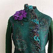 Одежда ручной работы. Ярмарка Мастеров - ручная работа жилет smeraldo. Handmade.
