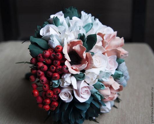"""Свадебные цветы ручной работы. Ярмарка Мастеров - ручная работа. Купить Букет невесты """"Изумрудный город"""". Handmade. Тёмно-зелёный"""
