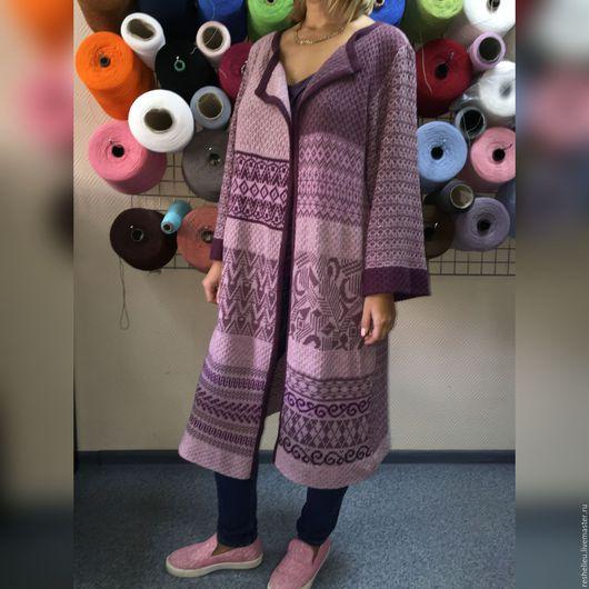 Кофты и свитера ручной работы. Ярмарка Мастеров - ручная работа. Купить Кардиган  №93 вязаный из 30% итальянской шерсти. Handmade.
