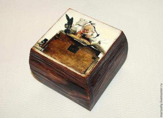"""Шкатулки ручной работы. Ярмарка Мастеров - ручная работа. Купить шкатулка для мелочей """"Smart Gnome"""". Handmade. Коричневый, воск"""