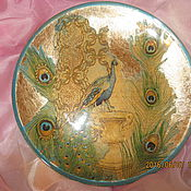 """Посуда ручной работы. Ярмарка Мастеров - ручная работа Тарелка """"Золотой павлин"""". Handmade."""