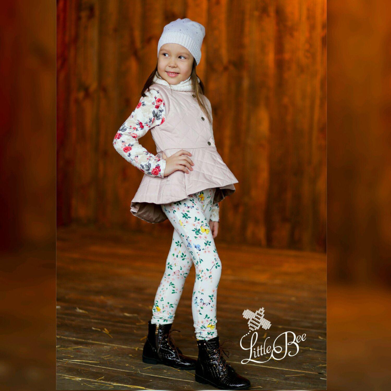 Стеганая жилетка для девочки, Одежда, Пенза, Фото №1