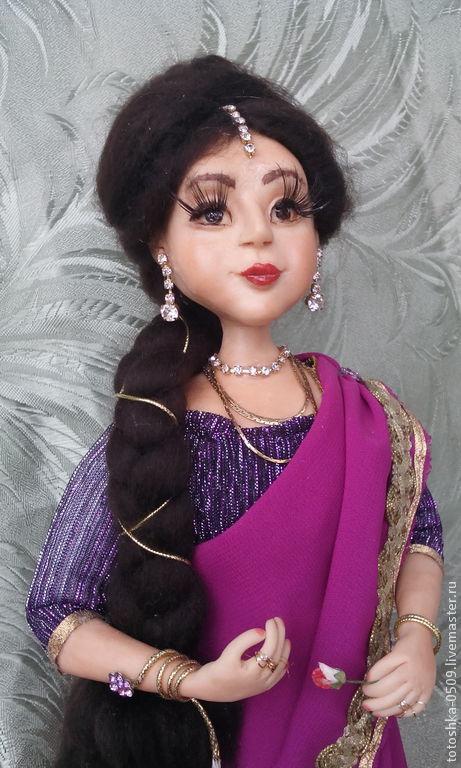 Коллекционные куклы ручной работы. Ярмарка Мастеров - ручная работа. Купить Гита. Handmade. Разноцветный, авторская ручная работа