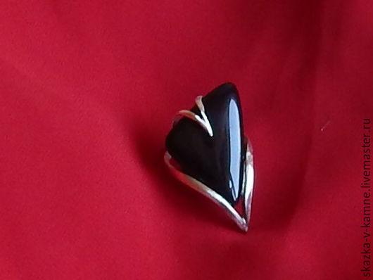 Кольца ручной работы. Ярмарка Мастеров - ручная работа. Купить Багира, кольцо с черным агатом. Handmade. Черный, натуральные камни
