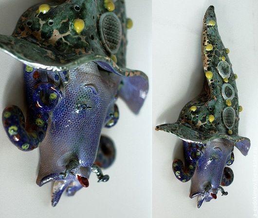 Интерьерные  маски ручной работы. Ярмарка Мастеров - ручная работа. Купить Маска. Handmade. Морская волна, лицо, интерьер, образ