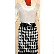 Одежда handmade. Livemaster - original item Skirt knitted Goose leg. Handmade.