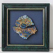 Для дома и интерьера handmade. Livemaster - original item the picture with the stone (azurite with malachite). Handmade.