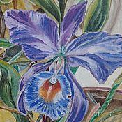 """Картины и панно ручной работы. Ярмарка Мастеров - ручная работа Картина маслом  """"Орхидея"""". картина цветы картина орхидея цветы картина. Handmade."""