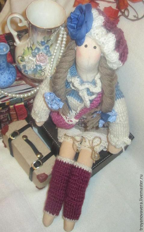 Куклы Тильды ручной работы. Ярмарка Мастеров - ручная работа. Купить Дама сдавала багаж. Handmade. Кукла Тильда, хлопок