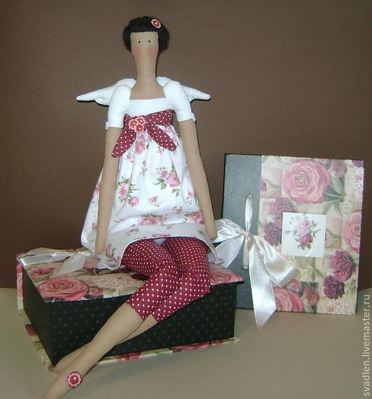 Куклы Тильды ручной работы. Ярмарка Мастеров - ручная работа. Купить Кукла тильда для интерьера - цветочный ангел. Handmade.