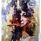 Абстракция ручной работы. Ярмарка Мастеров - ручная работа. Купить Абстрактный портрет. Handmade. Золотой, абстракция, подарок на любой праздник
