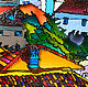 Пейзаж ручной работы. Приморская бухта. 2015 г.. Art Nate. Интернет-магазин Ярмарка Мастеров. Витражная роспись
