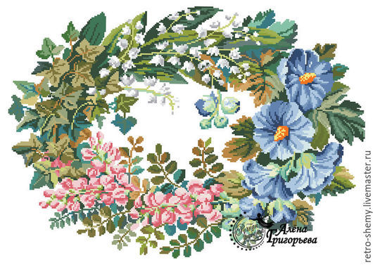 "Вышивка ручной работы. Ярмарка Мастеров - ручная работа. Купить Схема вышивки ""Травы, травы, травы..."". Handmade."