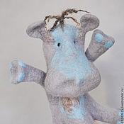 Куклы и игрушки handmade. Livemaster - original item Hippo. Glove puppet. Bi-BA-Bo.. Handmade.