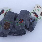 Валенки ручной работы. Ярмарка Мастеров - ручная работа Валенки женские +варежки  Зима. Handmade.