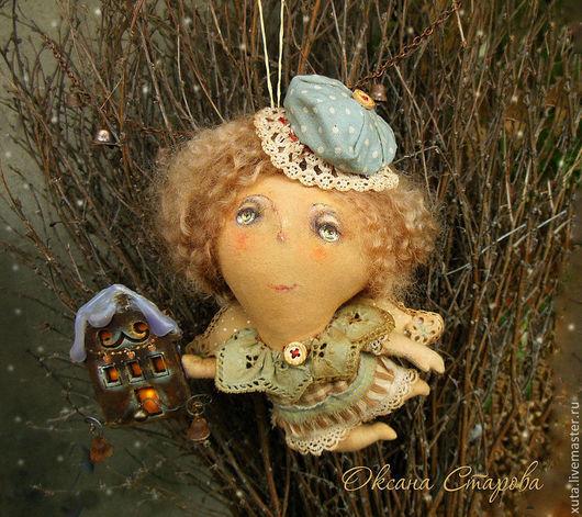 Ароматизированные куклы ручной работы. Ярмарка Мастеров - ручная работа. Купить Свет в окошке.... Handmade. Коричневый, свет в окошке, колокольчики