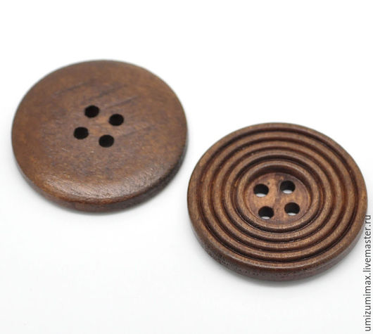 Шитье ручной работы. Ярмарка Мастеров - ручная работа. Купить Деревянные пуговицы в одном стиле 25 и 30 мм.. Handmade.