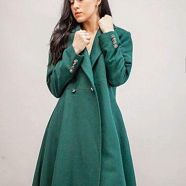 Одежда ручной работы. Ярмарка Мастеров - ручная работа Пальто женское из шерсти Ofresa. Handmade.