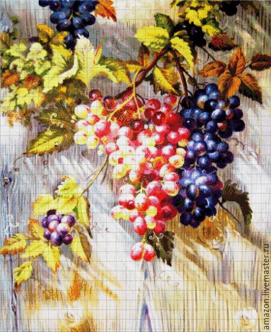 """Вышивка ручной работы. Ярмарка Мастеров - ручная работа. Купить Набор для вышивания бисером """"Виноград"""" по картине худ. Бруно Тино. Handmade."""