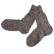 Аксессуары handmade. Livemaster - original item Grey wool socks. Handmade.
