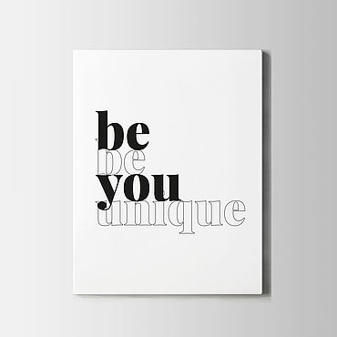 Для дома и интерьера ручной работы. Ярмарка Мастеров - ручная работа Постер Be you. Handmade.