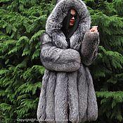 Одежда handmade. Livemaster - original item LUXURIOUS FUR COAT SAGA FURS FOX FUR-COLOR PLATINUM M. Handmade.