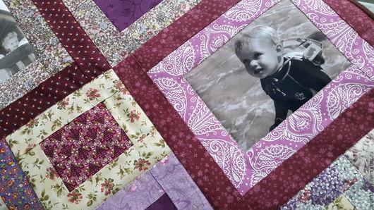 """Текстиль, ковры ручной работы. Ярмарка Мастеров - ручная работа. Купить """" МОНПАНСЬЕ""""--3  Лоскутное покрывало с фотографиями. Handmade."""