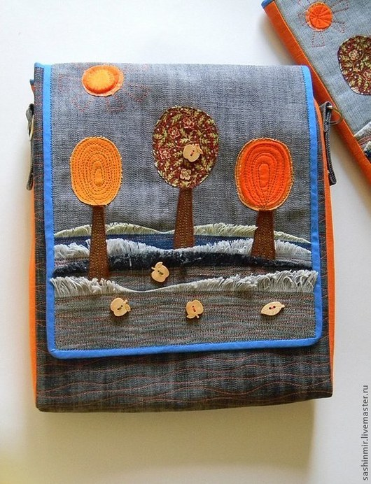 """Женские сумки ручной работы. Ярмарка Мастеров - ручная работа. Купить Сумка из джинсы """"Осень"""". Handmade. Однотонный, молодежная сумка"""