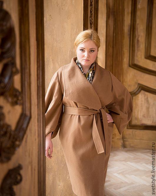 Великолепное Коричное пальто из итальянского кашемира. Ярмарка Мастеров - купить пальто. Ручная работа. Дизайнер Лана Морозова