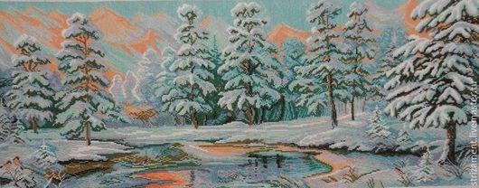 Зимнее утро в горах Кавказа-1