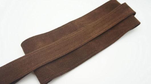Пояса, ремни ручной работы. Ярмарка Мастеров - ручная работа. Купить Пояс из натуральной замши, шоколадный. Handmade. Коричневый пояс