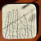Картины и панно handmade. Livemaster - original item Shepherd`s purse Plaster Botanical panels of Bas-relief. Handmade.
