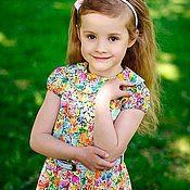 Работы для детей, ручной работы. Ярмарка Мастеров - ручная работа Платье для девочки ЛЕТО. Handmade.