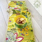 Для дома и интерьера handmade. Livemaster - original item Track on the table Bright flowers. Handmade.
