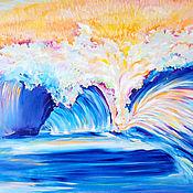 """Картины и панно ручной работы. Ярмарка Мастеров - ручная работа Картина """"Новая Волна"""". Handmade."""