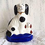 Винтаж ручной работы. Ярмарка Мастеров - ручная работа Викторианская  фарфоровая шебби собачка с малышом. Handmade.