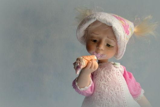 Коллекционные куклы ручной работы. Ярмарка Мастеров - ручная работа. Купить Таточка. Handmade. Розовый, мороженое, подарок