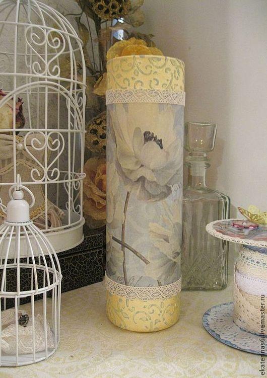 """Вазы ручной работы. Ярмарка Мастеров - ручная работа. Купить Ваза """"Голубое лето"""". Handmade. Голубой, ваза для цветов, Декупаж"""